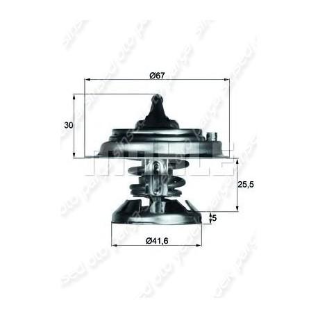 TERMOSTAT 80cc 83-00 W124-201-202-210 OM601-602-603 BEHR