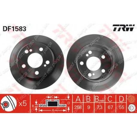 FREN DİSKİ ARKA E.S-W124-201 TRW