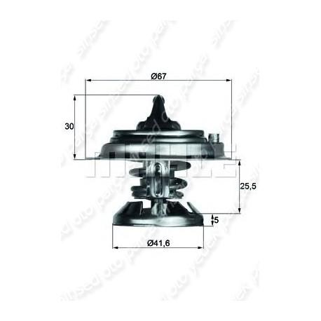 TERMOSTAT ( 80 DERECE ) MERCEDES W124-201-202-210 OM601-602- MAHLE